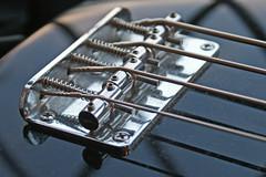 Sam's guitar (Mrs. Noah) Tags: bridge music guitar instrument strings bassguitar
