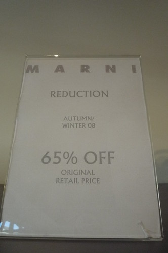 Bicester Village Marni discount sign