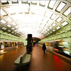 Metro (edwardkb) Tags: architecture train underground subway washingtondc metro tube rail symmetry dome metrorail jubileelineextension