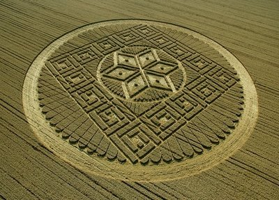 Mayan Crop Circle 2012 Woolstone Hill, near Uffington, Oxfordshire, Reported 13th August 2005