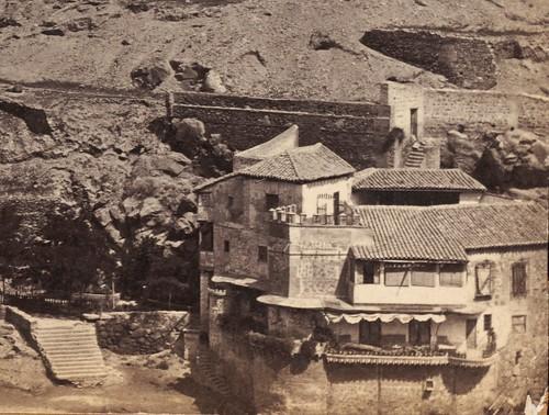 Casa del Diamnatista hacia 1860. Fotografía de Francis Frith (detalle)