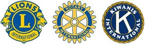 Lions, Rotary, Kiwanis