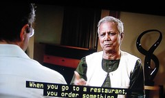 ANDREW DENTON INTERVIEWS MAHMUD YUNUS. [Photo by RubyGoes] (CC BY-SA 3.0)