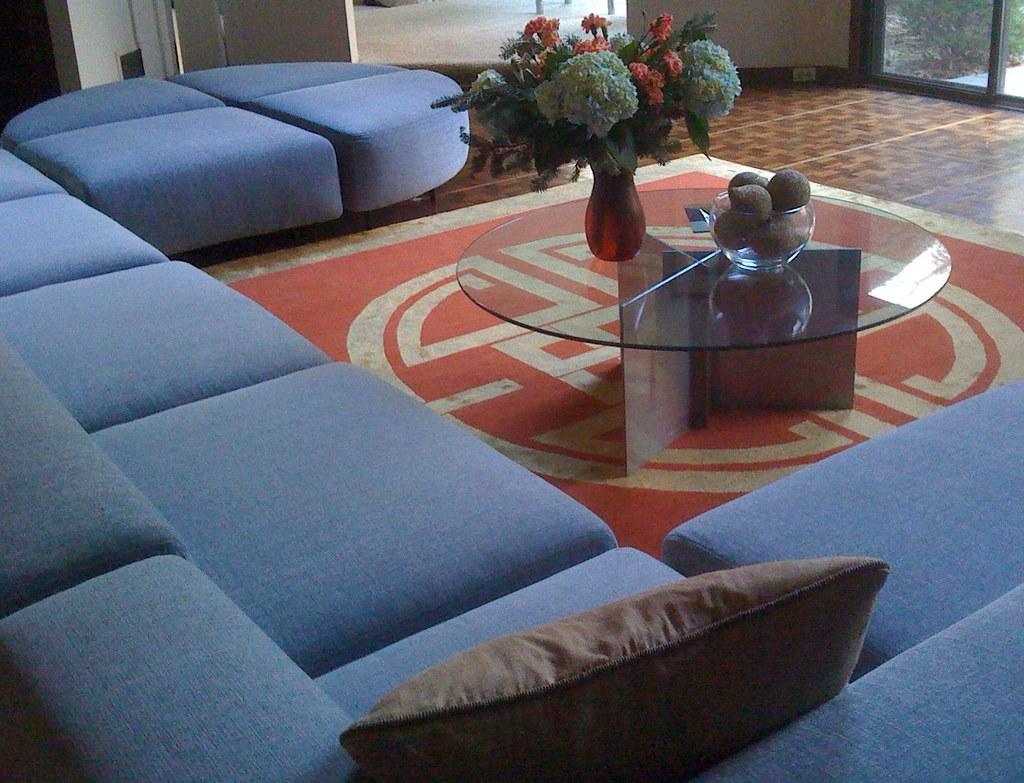 Chinese Chippendale rug, Kravetsmart fabric