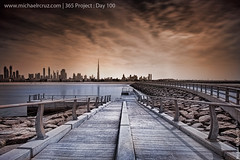 365 Project : Day 100 (Michael R. Cruz) Tags: sunset sea beach sepia uae 7d emiratestowers jumeirahbeach sigma1020mm dubaiskyline dualtone dubaibeach project365 mywinners dubaibuildings canon7d cloudsdubai michaelrcruzcom mygearandmepremium mygearandmebronze mygearandmesilver burjkhalifa