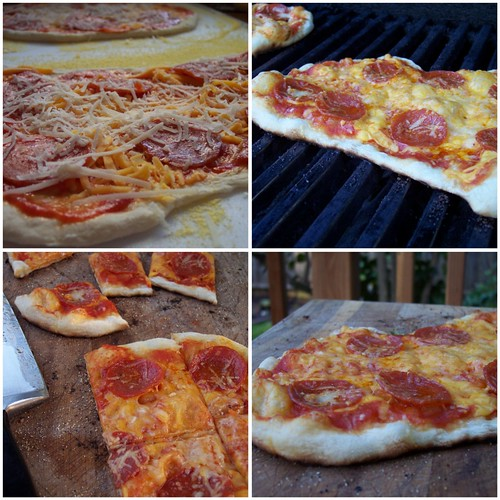 Pizzas on the Grill - pepperoni