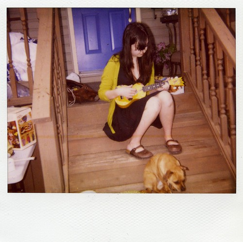 Polaroid - Astrid plays the ukulele