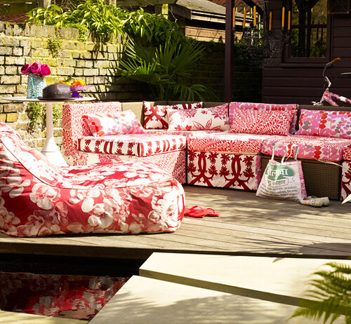 Red - Garden Space - Summer Home Ideas via housetohome