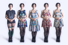 Day 3666 (evaxebra) Tags: multiplicity clone clones alphonse mucha dress leggings blackmilk wh wah repetition 365