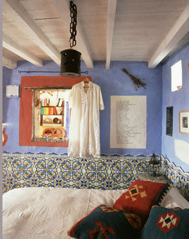 Inspiraci n habitaciones r sticas con color - Decoracion habitacion rustica ...