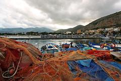 Mondello, le port (Boccalupo) Tags: italy net port fishing italia harbour porto sicily palermo filet italie sicilia mondello pche sicile palerme flickrsicilia