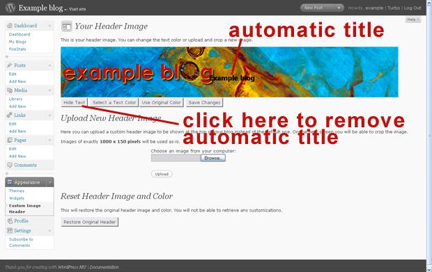 Remove automatic title