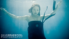 Diana Vue - Underwater (Dave Gruentzel Photography) Tags: blue light portrait woman abstract water pool girl face swim pose hair asian underwater hand dress body portraiture float striking tamron d300 tamron1750 dianavue