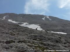 Il sentiero che porta alla cima del Sasso Piatto (BZ)