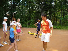 Евгений Кириллов в теннисном клубе