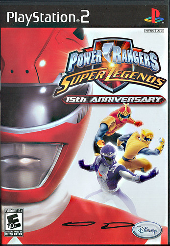 """Power Rangers: Super Legends"" - PS2 v. signed by production team member, Stephan Reese of  Disney Interactive  (( 2007 ))"