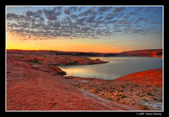 Red Rock Sunrise - A Matter of Scale (James Neeley) Tags: arizona scale sunrise landscape utah hdr lakepowell 5xp mywinners superaplus aplusphoto jamesneeley