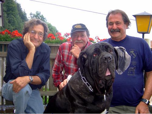 Ernst Aebi mit seinen Brüdern Kurt und Peter.