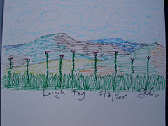 Lough Tay sketch (unfinished)