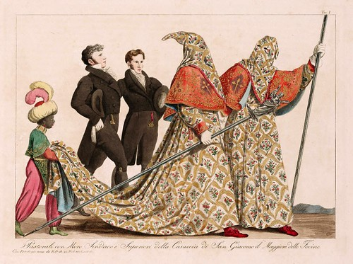 022 Costumi e descrizione delle processioni conosciute in Genova sotto il nome di casacce ricavati da quella di San Giacomo il maggiore delle focine 1828