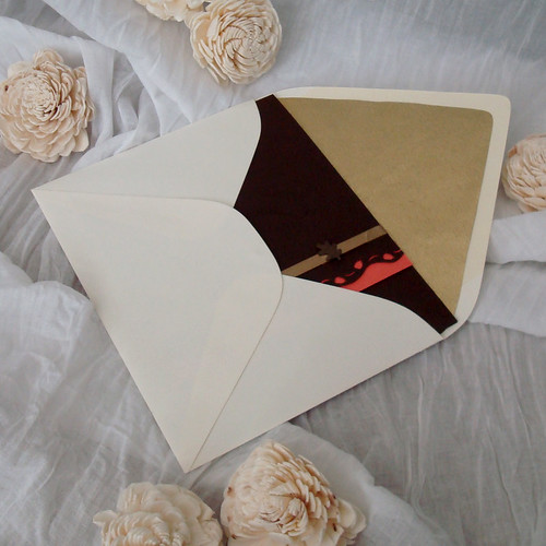 Ivory, Orange, and Brown envelope