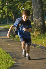 boy, with back pack, running (woodleywonderworks) Tags: school boy public speed work private fun lunch back healthy education energy zoom fast running eat pack heath backpack learning snacks hurry homework workout distance charge learn forward eager lunches vigorous energetic