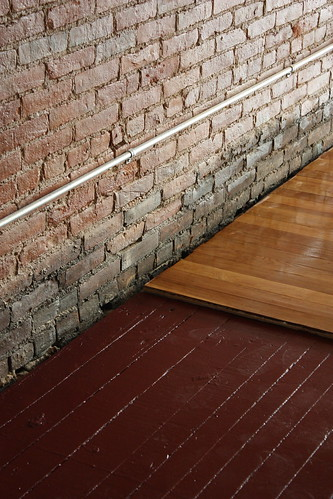 Oak, brick and painted floor