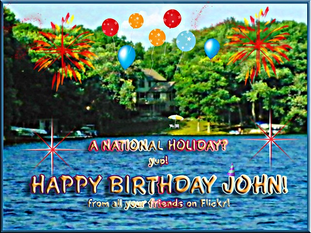 HAPPY BIRTHDAY JOHN! (+ a song from GIRL!) My angel sister, Carole,