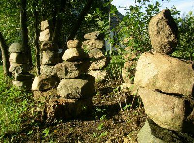 steine im garten selbst gemacht – bankroute, Gartenarbeit ideen