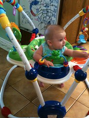 In the bouncer at Grandma's House! (leesepea) Tags: sweetpea