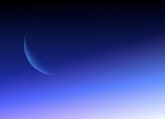 blue moon (Mouin.M) Tags: pink blue sky moon black colors lune earth luna crescent gradient