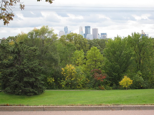 Minneapolis Skyline View from Columbia Parkway