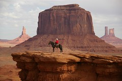 Once upon a time in the west (Johan_Leiden) Tags: arizona horse usa landscape utah butte monumentvalley mesa horseman navajotribalpark