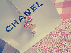 (hellololla) Tags: necklace heart jewelry eiffel gingham bow chanel