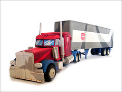 Optimus Prime Cartoon Style Truck Mode