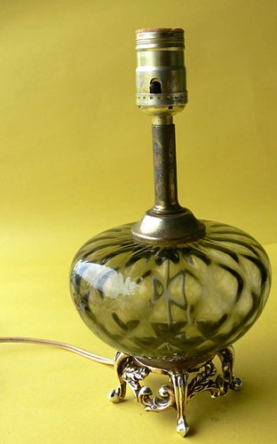 Working Smoky Glass Lamp Base