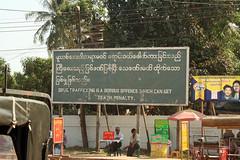 Smuggling warning Myawaddy, Burma (Myanmar)