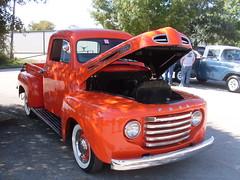 red truck, small town Teas car show