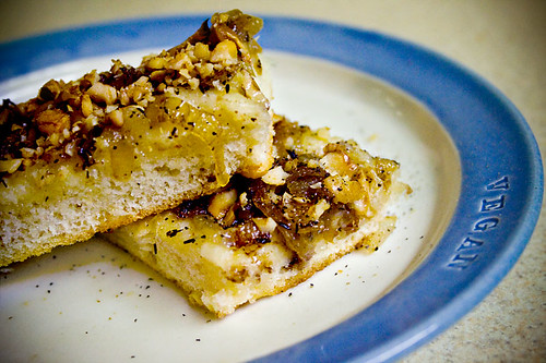 Caramelized Onion and Walnut Focaccia