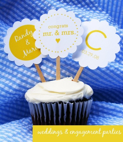 customized cupcake flags via laurenmakes on etsy