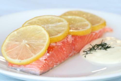 Salmon confit / Aeglaselt küpsetatud lõhe
