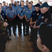 U.S. Navy Adm. Mike Mullen talks with Fort Hood police and firemen