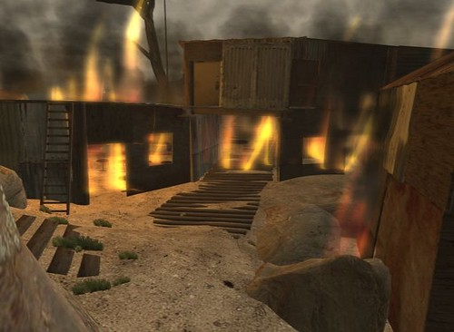 A fire tears through Ole Wanks village (Photo by Wankerstein Clapsaddle)