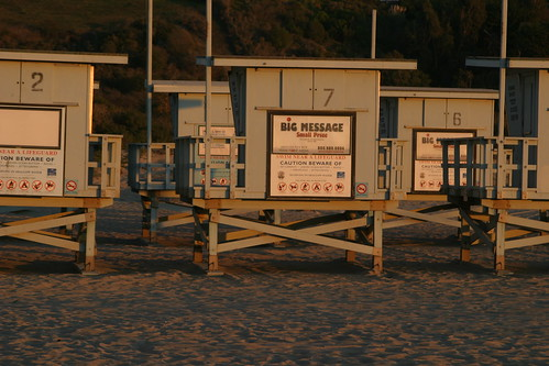 lifeguard towers in storage