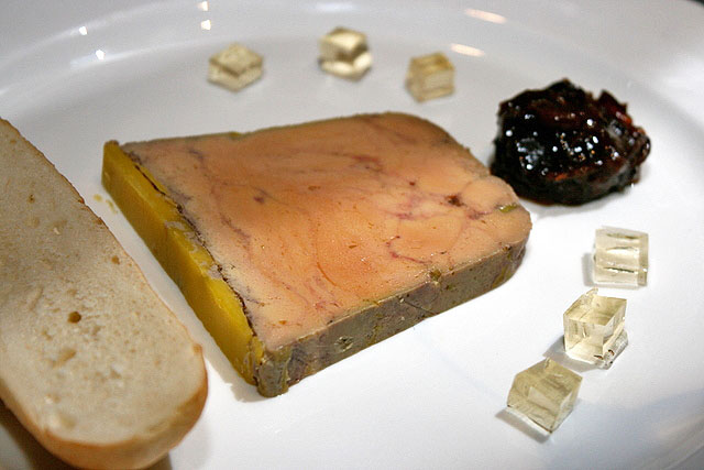 Foie Gras Ballotine with Prune Compote