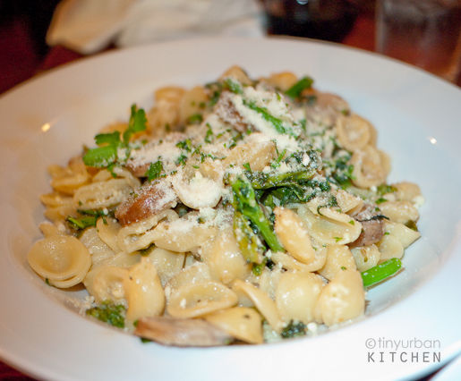 Orrechiette with broccoli rabe and sausage