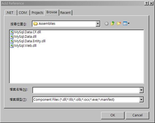 Add Reference MySQL Connector Step 2