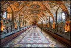 The Antiquarium in the Munich Residenz HDR (lipjin) Tags: travel germany munich bavaria indoor residence renaissance hdr muenchen topaz residenz antiquarium hallofantiquities borderfx