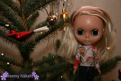 Gretchen in my parents christmas tree