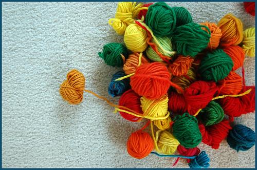 bits o' yarn